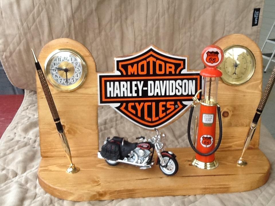 Harley Davidson Executive Desk Set with Vintage Phillips